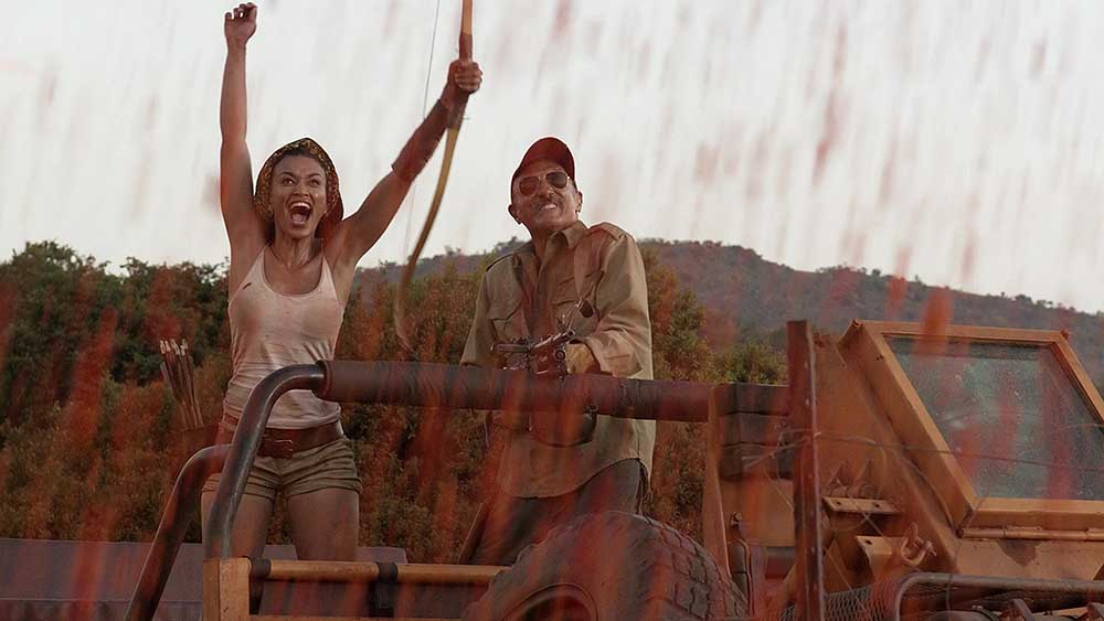 Pearl Thusi and Michael Gross Tremors 5 Bloodlines