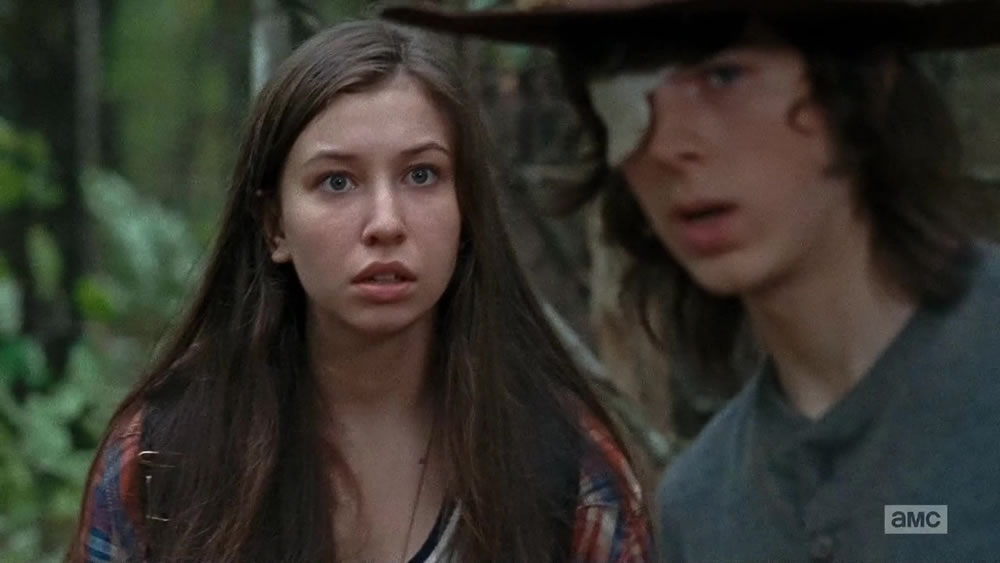 Enid deals with Carl's idiocy - The Walking Dead